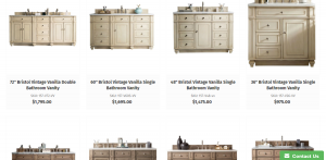 Vanities Depot website product page