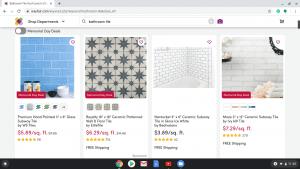 Bathroom tiles online on Wayfair's page.