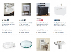 Sears website product page