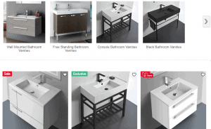 The Bath Outlet website product page