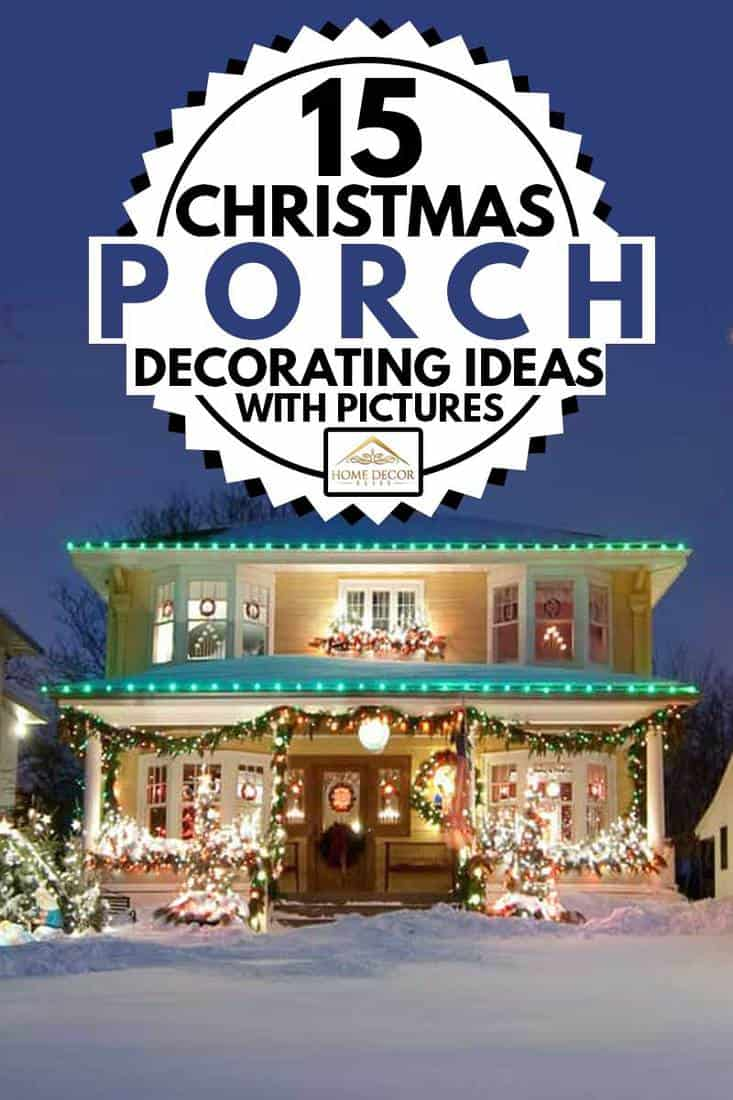 Luxurious house with christmas lights attached on the porch and fascia boards, 15 Christmas Porch Decorating Ideas [With Pictures]