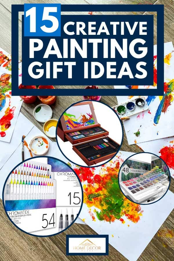 Papers and colorful painting materials on the floor, 15 Creative Painting Gift Ideas