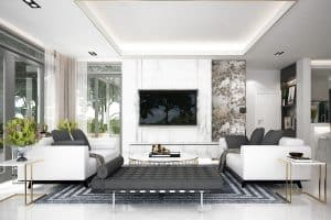 How to Arrange Two Sofas in Living Room