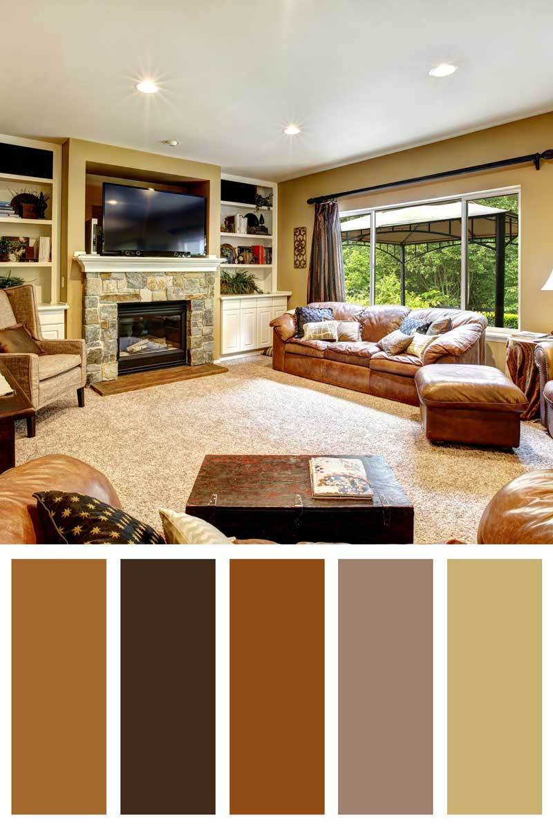 14 Living Room Color Schemes With Brown Leather Furniture Home Decor Bliss