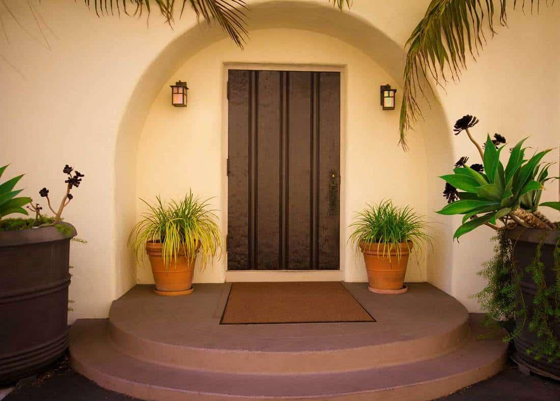 Front door of a villa