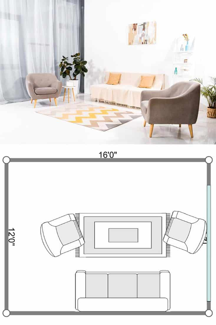 Picture of: 11 Sofa And Two Chairs Living Room Layouts Home Decor Bliss