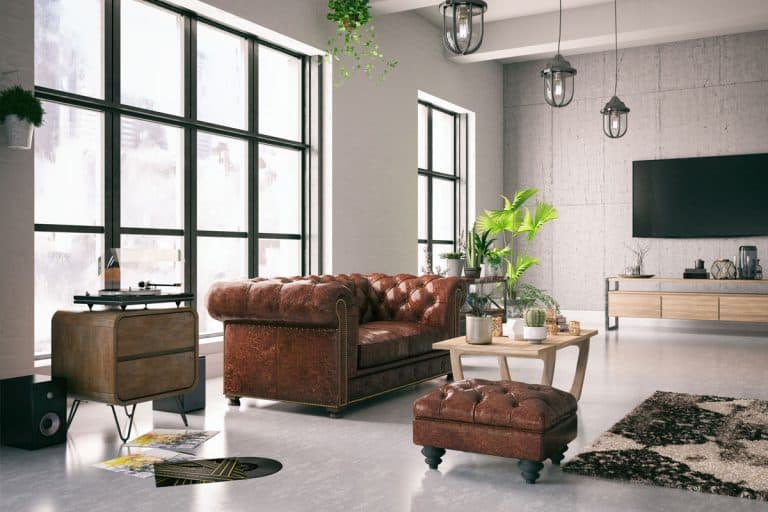 Modern living room with brown leather sofas and a gorgeous coffee table on the middle, The 25 Different Colors of Leather Furniture