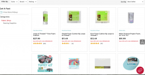 Michaels website product page
