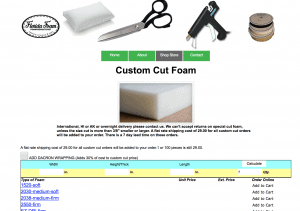 Florida Foam website product page