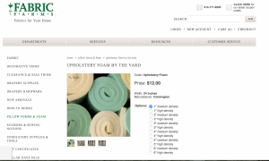 Fabric Farms website product page