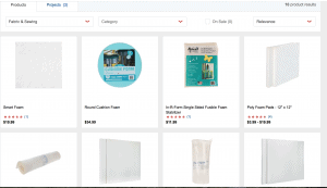Hobby Lobby website product page