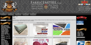 Fabric Empire website product page