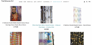 That Bohemian Girl page showing beaded curtains