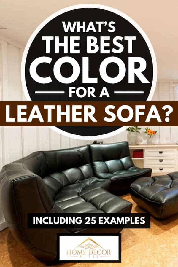 Living room with a curved leather sectional sofa, What's the Best Color for a Leather Sofa? [Inc. 25 Examples]