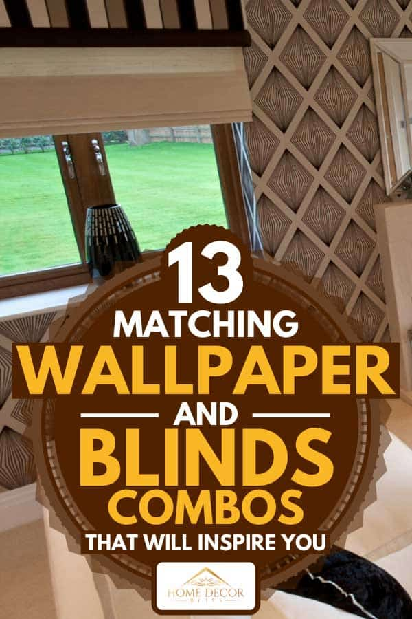 Matching window blinds and wallpaper in a luxurious living room, 13 Matching Wallpaper And Blinds Combos That Will Inspire You