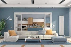 What Color Furniture Goes With Blue Walls? [5 Suggestions With Pictures]