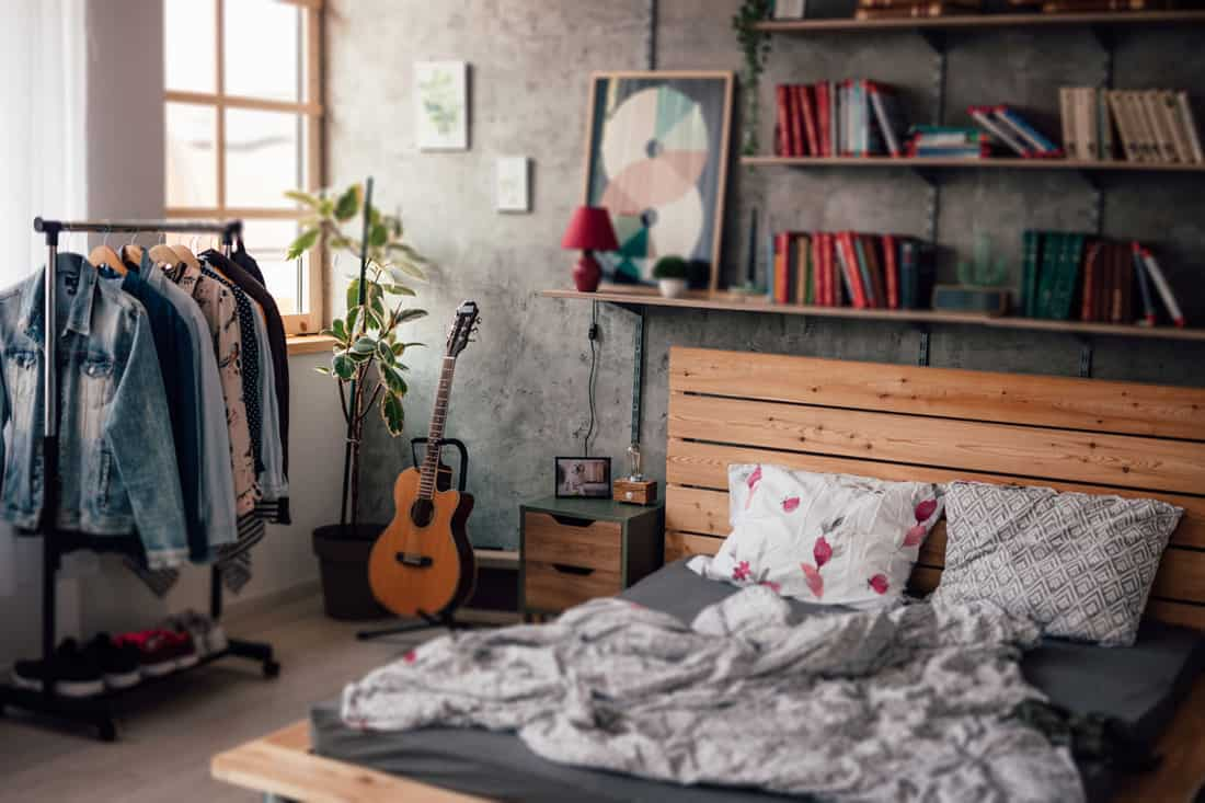 A classic styled bedroom with a wooden bed