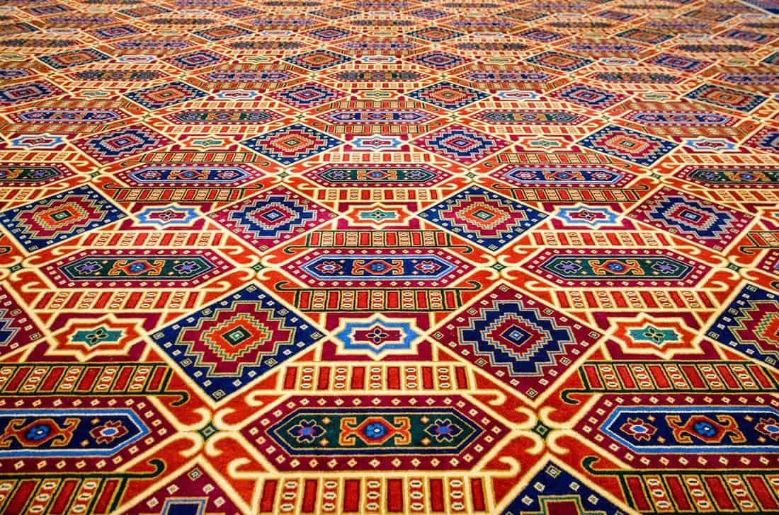 Colorful patterned carpet design