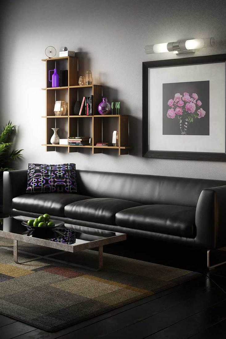 Cozy and elegant Scandinavian living room interior design