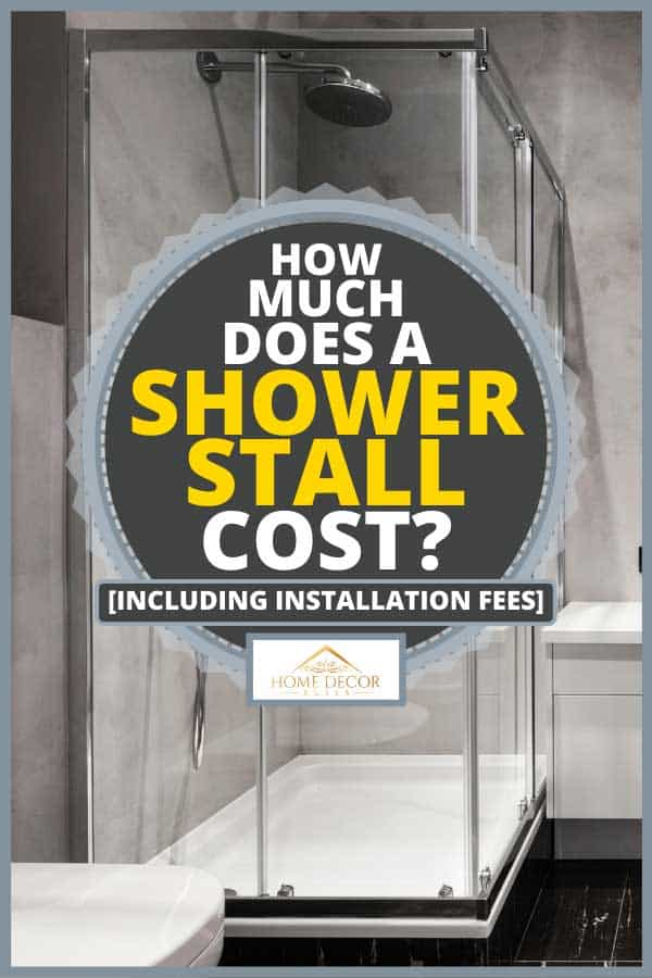 Bathroom with basin, shower cabin, large mirror and chrome silver heater, How Much Does A Shower Stall Cost? [Inc. Installation Fees]