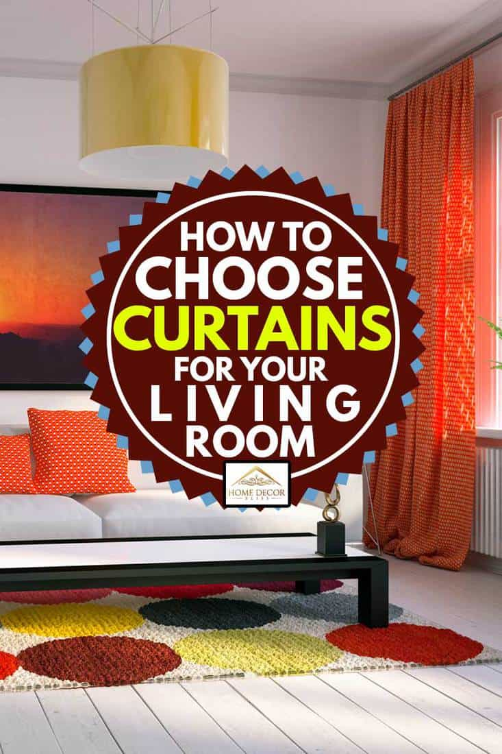 cozy Scandinavian style home interior design with orange curtains, How To Choose Curtains For Your Living Room