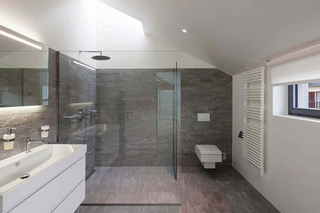 Interior of a house bathroom with modern design