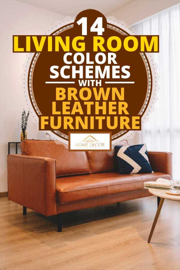 Modern and simple living room with brown sofa and coffee table, 14 Living Room Color Schemes With Brown Leather Furniture