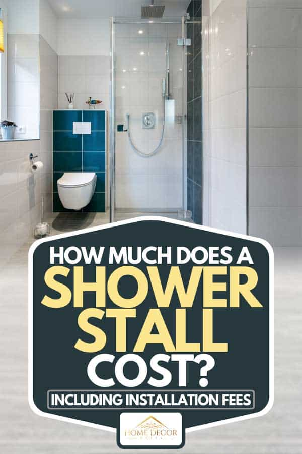 Luxury bathroom with glass shower, How Much Does A Shower Stall Cost? [Inc. Installation Fees]