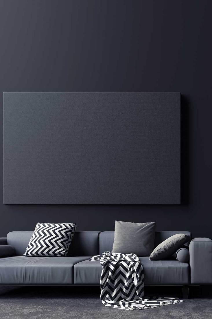 Modern concept interior design of black and grey living room