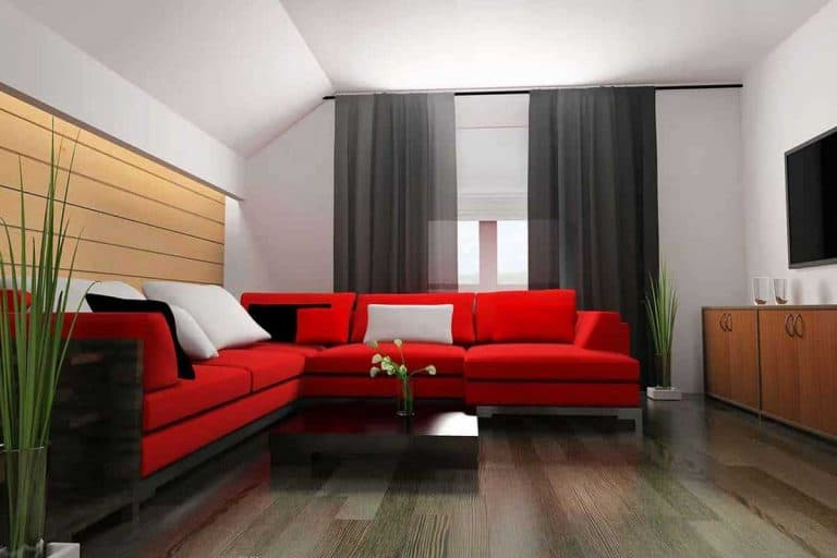 Red corner sofa in modern interior, What goes with a Red Couch? 14 Ideas with Pics