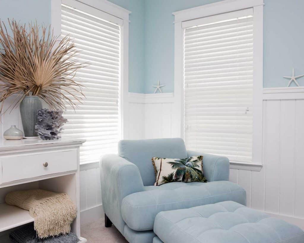 Shabby chic interior decor of a beach house