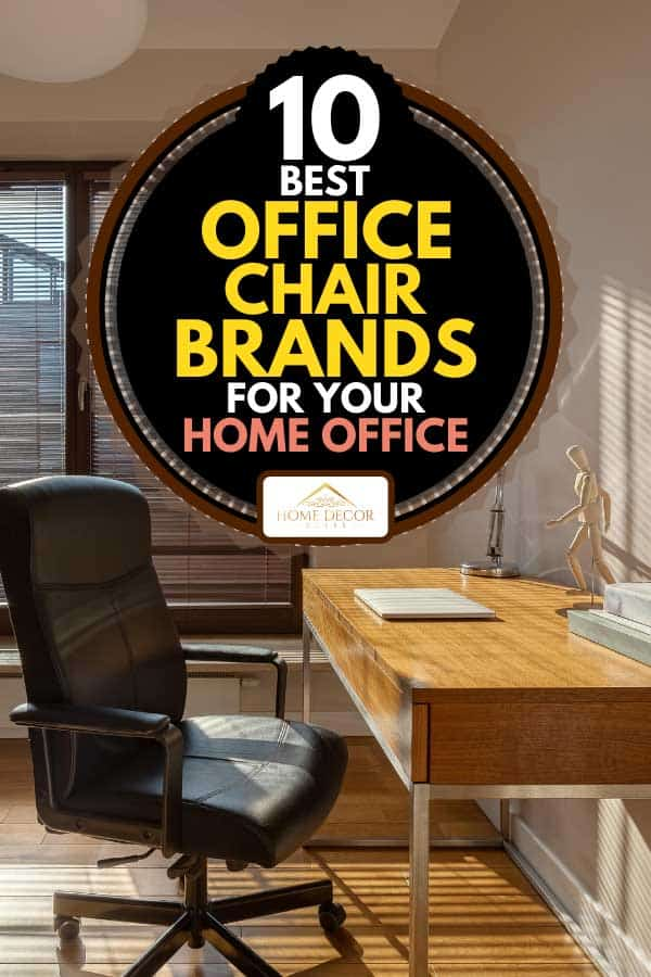 Home office with big window, black office chair and wooden desk, 10 Best Office Chair Brands for your home office