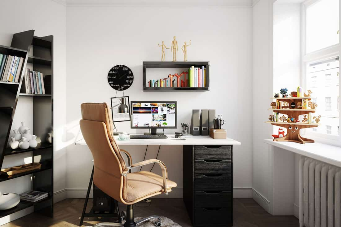 A small home office desk with a brown office chair, Should You Get A Cushion For Your Office Chair?