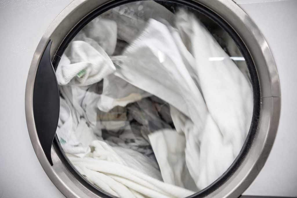 Wet bedsheets left in the dryer overnight