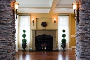 Should Fireplace Mantel Match Trim Or Floor?
