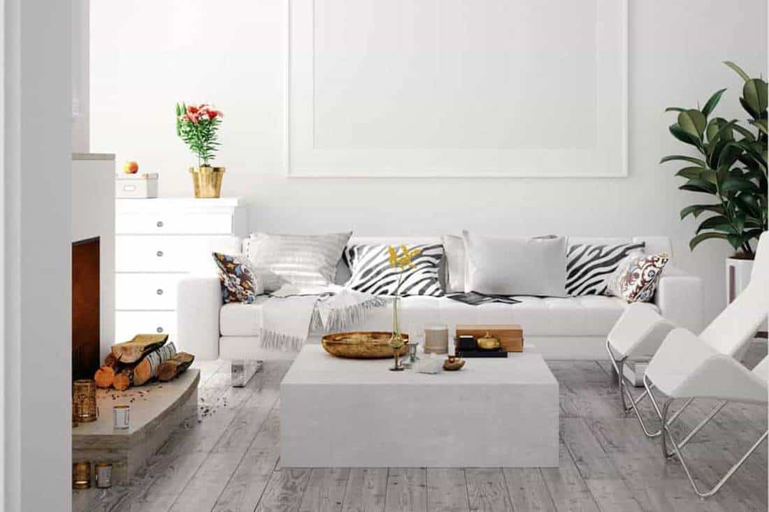 Living Rooms With Gray Floors, What Colour Sofa Goes With Grey Laminate Flooring