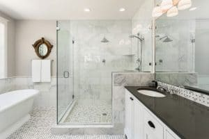 Does Bathroom Floor Tile Have To Match Shower Tile?