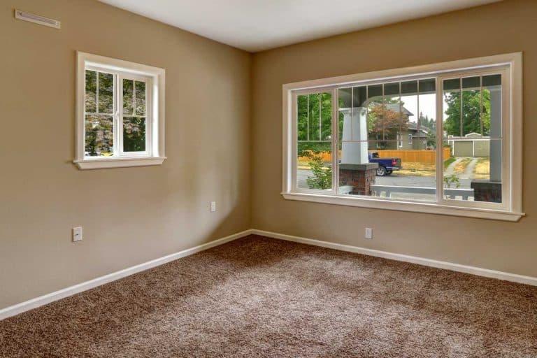 Beige empty room with brown carpet floor, Should Carpet Be Lighter Or Darker Than Walls?