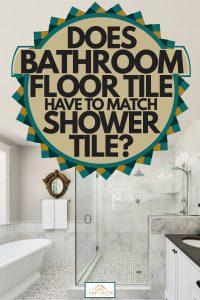 does bathroom floor tile have to match shower tile? - home