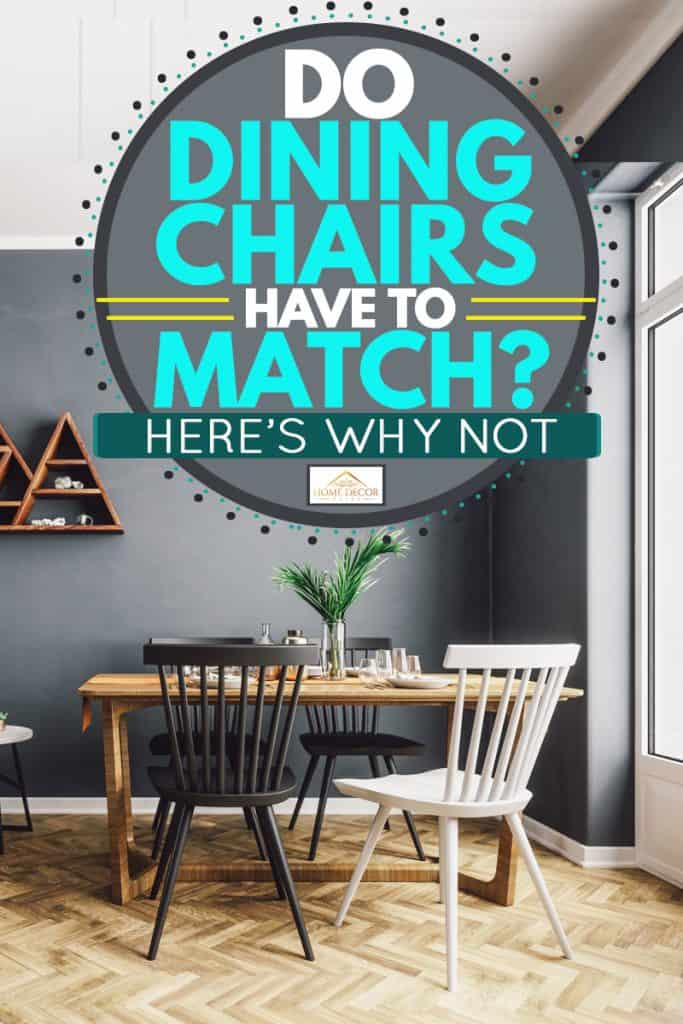 A mix of classic and modern designed living room with a dining area on the side, Do Dining Chairs Have to Match? [Here's why not]