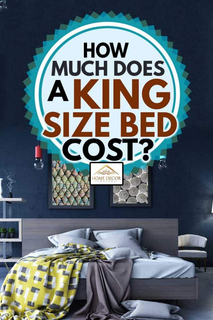 Bedroom with king sized bed in Warm Colors with Creative Atmosphere, How Much Does A King Size Bed Cost?