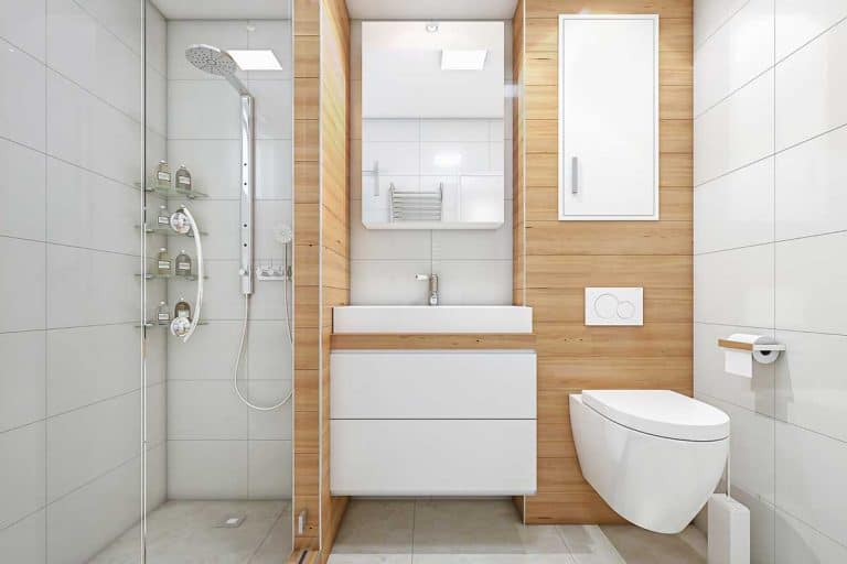 Modern luxury apartament bathroom with shower, 9 Large Bathroom Layout Ideas [Pictures & Charts]