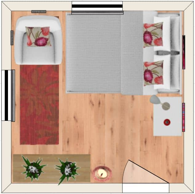 10 by 10 bedroom layout number 4