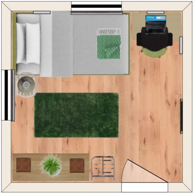 Bedroom layout 7