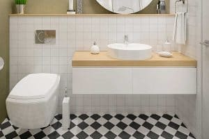 Read more about the article Should You Tile Behind Bathroom Sink? [Inc. What Kind Of Backsplash To Have]