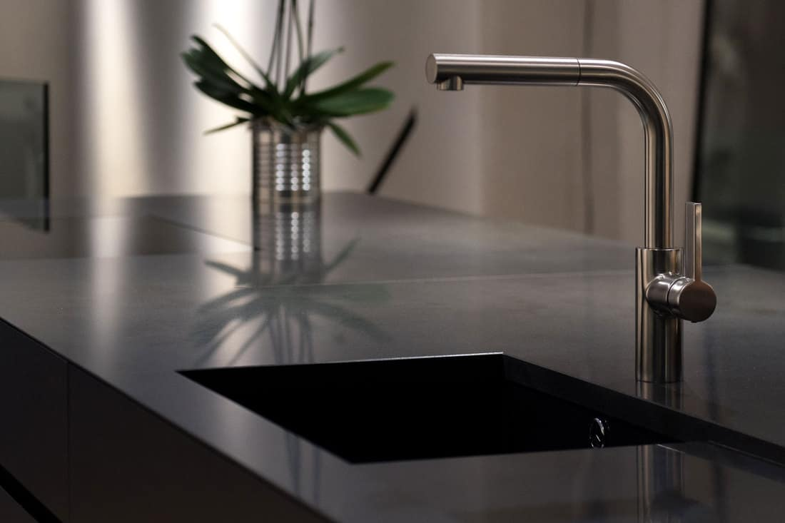 Granite SInk and Stylish Faucet
