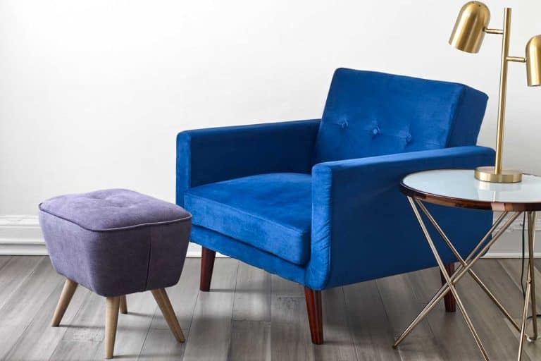 Mid modern style armchair and ottoman, What Is the Best Height for an Ottoman? [by Function]