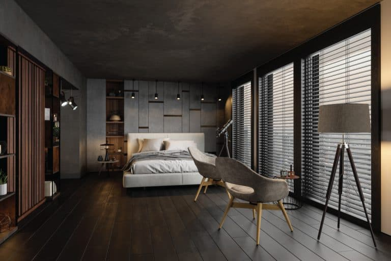 Modern Bedroom In The Evening, Can A Bedroom Open Into A Garage