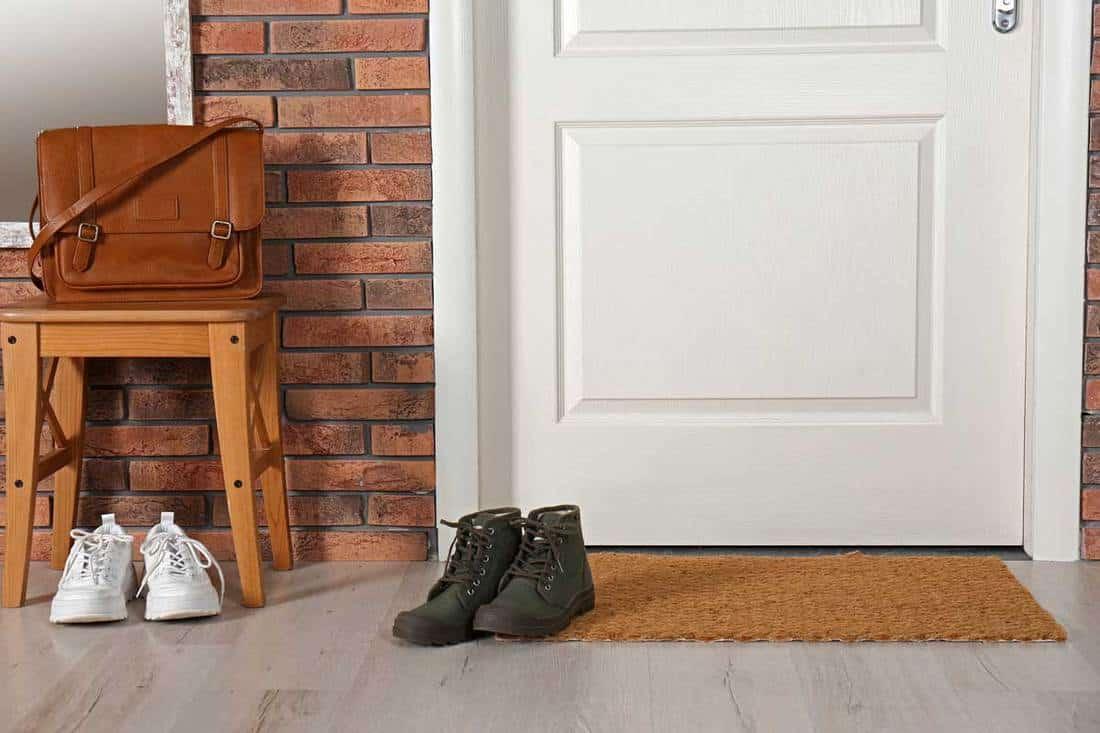 girişte ayakkabı, çanta ve paspas ile kapının yanında, Girişte Kilim Olmalı mı?