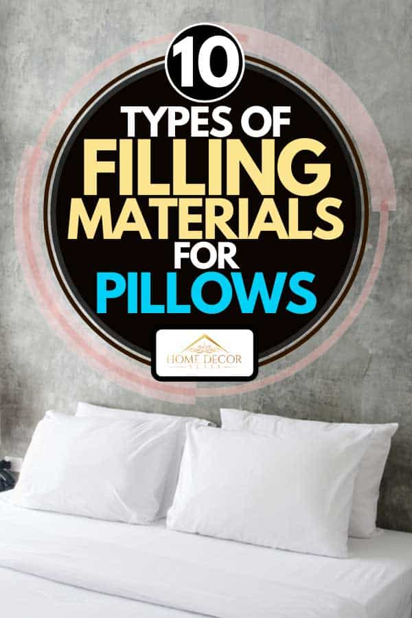 A tidy bed with white pillows and bed sheet, 10 Types Of Filling Materials For Pillows